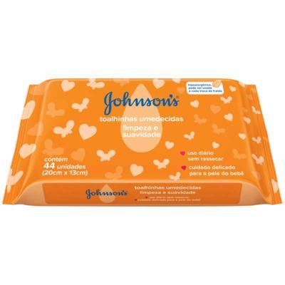 Toalinhas Umedecidas Johnson's - Limpeza e Suavidades | 44 unidades