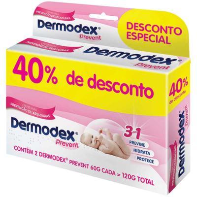 Kit Creme Preventivo Para Assaduras Dermodex Prevent - 2x60g | Ganhe 40% de Desconto