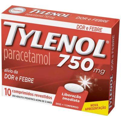 Tylenol - 750mg | 10 comprimidos
