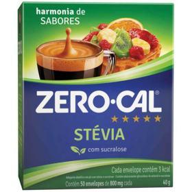 Zero-Cal Adoçante em Pó - Stevia | 50 unidades