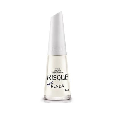 Esmalte Risqué Branco - Natural Novo Renda   8ml