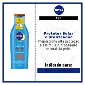 Protetor Solar Nivea Sun Protect & Bronze - FPS 30 | 200ml