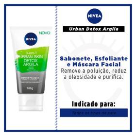 Máscara Facial Nivea - Urban Skin Detox Argila   166g