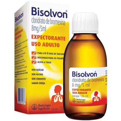 Bisolvon Xarope Expectorante Adulto - 8mg/5ml | 120ml
