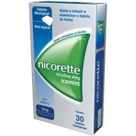 Nicorette Icemint - 4mg | 30 tabletes mastigáveis