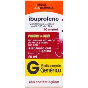 Ibuprofeno Gotas Genérico Nova Quimica - 100mg/ml   20ml