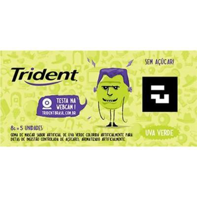 Goma De Mascar Trident - Uva Verde | 8g | 5 unidades