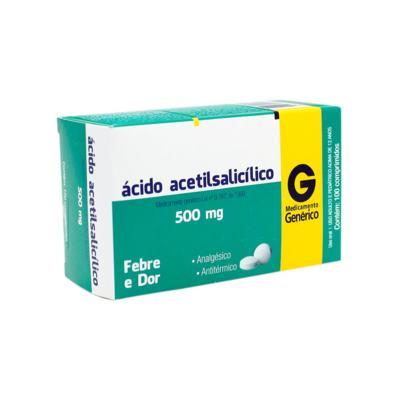Ácido Acetisalicilico Genérico Cimed - 500mg | 10 comprimidos