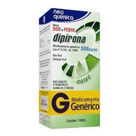 Dipirona Sódica Gotas Genérico Neo Quimica - 500mg | 10ml