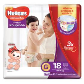Fralda Roupinha Huggies Supreme Care - G   18 unidades