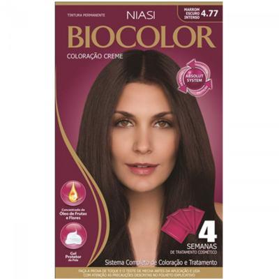 Kit Coloração Creme Biocolor - 4.77 Marrom Escuro Intenso | 1 unidade