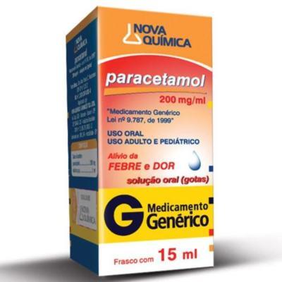 Paracetamol Gotas Genérico Nova Quimica - 200mg/ml | 15ml