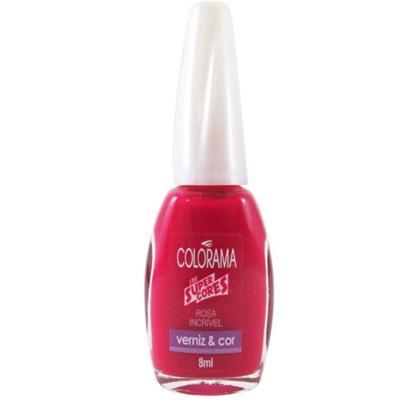 Esmalte Colorama Blister Cremoso Verniz&Cor - Rosa Incrivel | 8ml