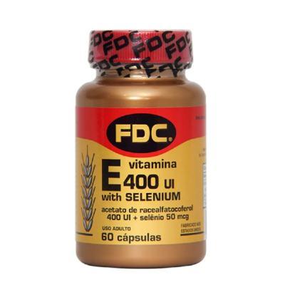 Vitamina E  FDC - 400 Ui + Selenium | frasco com 60 cápsulas
