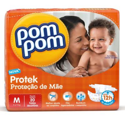 Fralda Pom Pom Protek Baby - M | 20 unidades