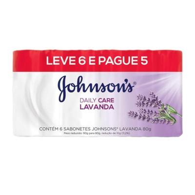 Sabonete Johnsons Barra Daily Care - Lavanda | 80g | Leve 6 Pague 5