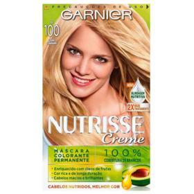 Coloração Garnier Nutrisse Creme - 100 Louro Claríssimo   1 unidade