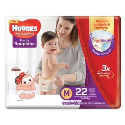 Fralda Huggies Supreme Care Roupinha - M | 22 unidades