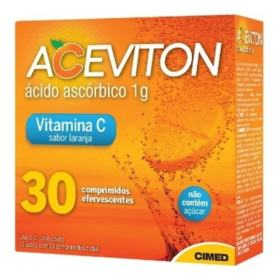 Aceviton - 1g Sabor Laranja   10 comprimidos efervescentes