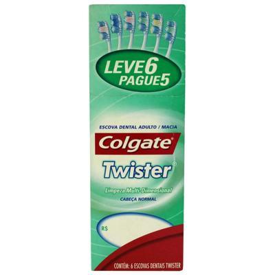 Escova Dental Colgate Twister - Macia | Leve 6 Pague 5