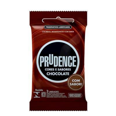 Preservativo Prudence Cores e Sabores - Chocolate | 3 unidades