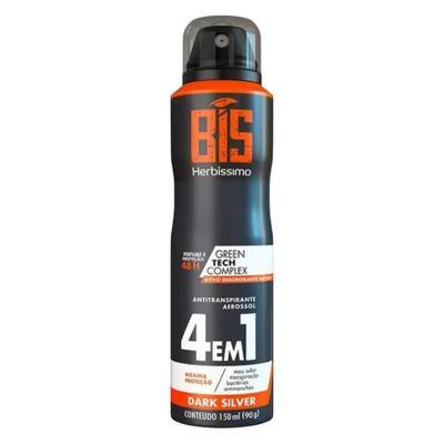 Desodorante Herbissimo Aerosol Bis 4 Em 1 - Dark Silver | 150ml