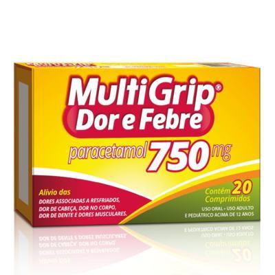 Multigri Dor e Febre - 750mg | 20 comprimidos