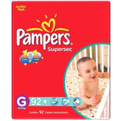 Fralda Pampers Super Jumbo - G | 92 unidades