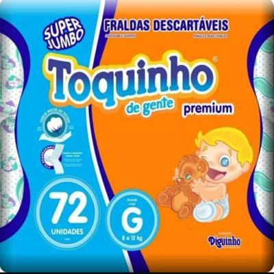 Fralda Toquinho De Gente Premium - G | 72 unidades