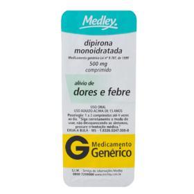 Dipirona Sódica Genérico Medley - 500mg | 10 comprimidos