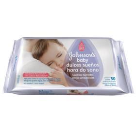 Lenço Umedecido Johnson Baby - Hora do Sono   50 unidades