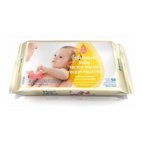 Lenço Umedecido Johnson's Baby - Recém Nascido | 50 unidades