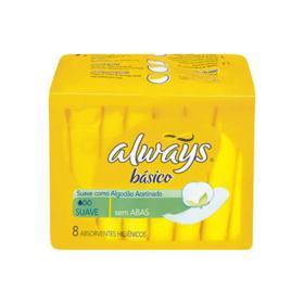 Absorvente Always Basico - Sem Abas | 8 unidades
