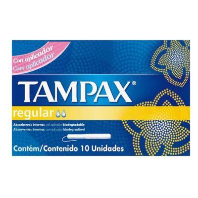 Absorvente Interno Tampax - Regular com Aplicador | 10 unidades