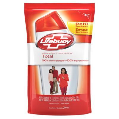 Refil Sabonete Líquido Lifebuoy - Hand Wash Total | 200ml