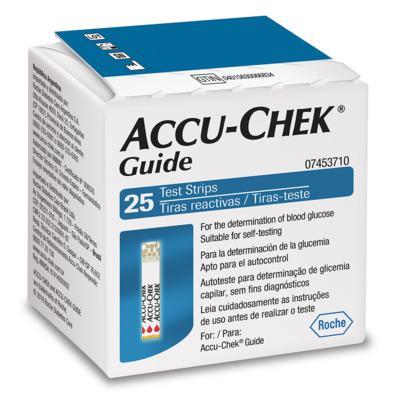 Tiras Medidoras de Glicemia - Accu-Chek Guide | 25 unidades