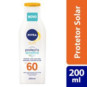 Protetor Solar Nivea Sun Sensitive - Fps60 | 200ml
