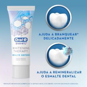 Creme Dental Oral-B 3D White - Whitening Therapy Esmalte Defense | 103g