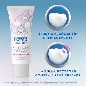 Creme Dental Oral-B 3D White - Whitening Therapy Sensitive Care   90g