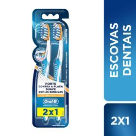 Escova Dental Oral-B - Pro-Saúde Pro-Flex | 2 unidades