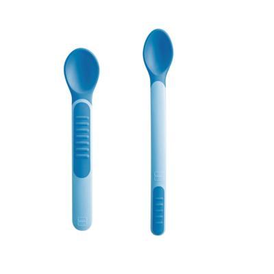 Kit Colheres Termossensíveis Mam - azul   2 unidades   + capa protetora