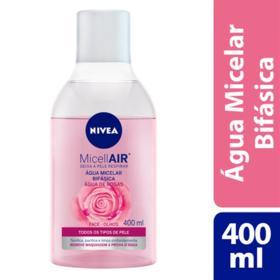 Água Micelar Bifásica Nivea MicellAIR - Água de Rosas | 400ml