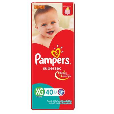 Fralda Pampers Supersec - XG | 40 unidades