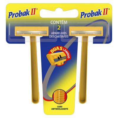 Aparelho De Barbear Descartável Gillette - Probak II | 2 unidades