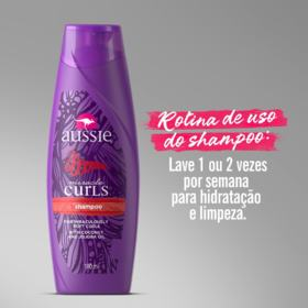 Shampoo Aussie Miracle Curls - 3 Minutos | 180ml