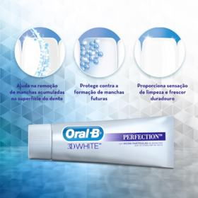 Creme Dental Oral-B 3D White Perfection - Crystal Mint   102g