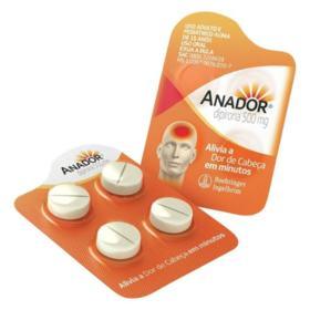 Anador - 500mg | 4 comprimidos