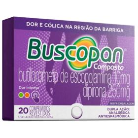 Buscopan Composto - 10mg + 250mg | 20 comprimidos