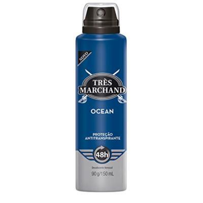 Desodorante Aerosol Antitranspirante Très Marchand - Masculino Black | 150ml