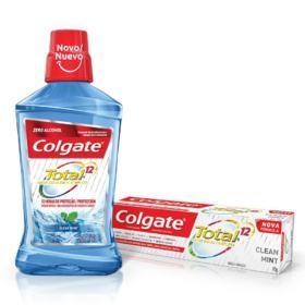 Enxaguante Bucal Colgate Total 12 - Clean Mint | 500ml | + Grátis Creme Dental Colgate Total 12 90g
